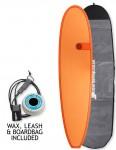 Cortez Funboard surfboard 7ft 2 package - Hot Orange