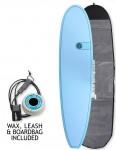 Cortez Mini Mal Surfboard 8ft 0 package - Ocean Blue