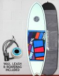 Cortez Fish surfboard package 6ft 9 - 10 Series Sanded