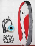 Cortez Fish Surfboard Package 6ft - Red Swish