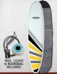 Cortez Funboard Surfboard Package 7ft 6 - Yellow/Black