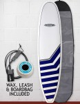 Cortez Funboard Surfboard Package 8ft - Navy Chevrons