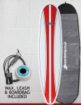Cortez Funboard Surfboard Package 8ft 0 - Red