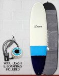 Cortez Funboard Surfboard Package 7ft 2 - Navy/Blue Dip
