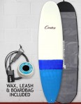 Cortez Funboard Surfboard package 8ft 0 - Blue Dip