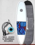 Cortez Funboard Surfboard Package 7ft 4 - Series 10 Blue