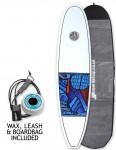 Cortez Funboard Surfboard Package 7ft 4 - Series 10 Blue