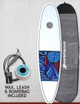 Cortez Funboard Surfboard Package 7ft 2 - Series 10 Blue