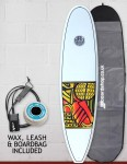 Cortez Funboard Surfboard Package 7ft 4 - Series 10 Yellow