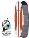 Cortez Fun Veneer Surfboard package 8ft 0 - Walnut