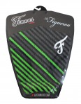 Famous Figueroa Surfboard Tail Pad - Black/Green/Coal