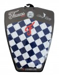 Famous Timmy Curran Surfboard Tail Pad - Blue/White