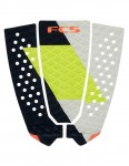FCS Filipe Toledo Surfboard Tail Pad - Coal/Lime