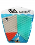Gorilla Fish SNWF surfboard tail pad - Grey/Green/Red