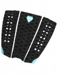 Gorilla Phat Three surfboard tail pad - Black/Sky