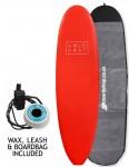 Hold Fast Kids Foam Surfboard Package 6ft 2 - Red