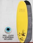 Hold Fast Kids Foam Surfboard Package 6ft 2 - Yellow
