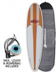 Hawaiian Soul Veneer Mini Mal surfboard package 7ft 2 - Light Cherry