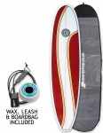 Hawaiian Soul Veneer Mini Mal surfboard package 7ft 6 - Cherry Swirl