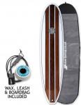 Hawaiian Soul Veneer Mini Mal surfboard package 7ft 4 - Teak