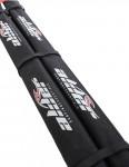 Alder Round Roof Bar Pads 100cm - Black