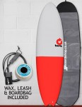 Torq Mod Fish surfboard package 6ft 10 - Red/Grey