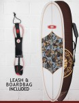 Nineplus Magic Carpet Package Surfboard 7ft 0 - Floral