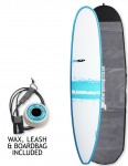 NSP Elements Longboard surfboard 9ft 2 package - Blue