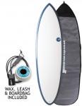 NSP Elements Hybrid surfboard package 6ft 6 - Blue