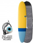 NSP Elements Longboard surfboard package 8ft 6 - Tail Dip Blue