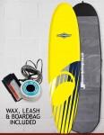 Osprey Mini Mal Foam surfboard package 8ft 0 - Shard Yellow