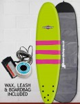 Osprey Mini Mal Foam surfboard package 8ft 0 - Triband Green