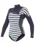 Picture Ladies Grace Zip Free Long Sleeve Shorty 2mm wetsuit 2018 - Sailor/Gold