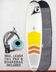Bic DURA-TEC Padded Magnum Surfboard Package 8ft 4 - White