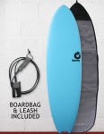 Torq Mod Fish Soft & Hard Surfboard Package  6ft 6 - Blue