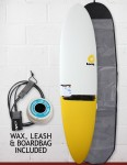 Torq Mod Fun Surfboard Package 7ft 6 - Yellow Taildip
