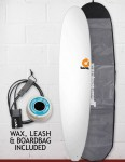 Torq Longboard Surfboard Package 9ft - Matte White