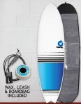 Torq Mod Fish surfboard package 6ft 3 - Colour Fade