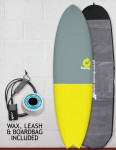 Torq Mod Fish surfboard package 6ft 3 - Fifty Fifty