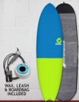 Torq Mod Fish surfboard package 6ft 6 - Fifty Fifty