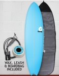 Torq Mod Fish surfboard package 7ft 2 - Pinline Blue