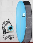 Torq Mod Fun surfboard package 7ft 6 - Pinline Blue