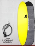 Torq Fun Soft & Hard surfboard package 7ft 6 - Yellow