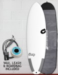Torq Tec Big Boy 23 surfboard package 6ft 10 - White