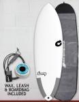 Torq Tec Hybrid surfboard package 6ft 4 - White