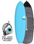 Torq Mod Fish surfboard package 6ft 10 - Blue/Pinline