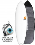 Torq Mod Fish surfboard package 6ft 6 - White