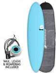 Torq Mod Fun surfboard package 7ft 2 - Blue/Pinline