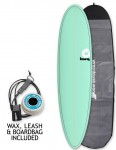 Torq Mod Fun surfboard package 7ft 2 - Sea Green/Pinline
