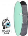 Torq Mod Fun surfboard package 7ft 6 - Sea Green/Pinline